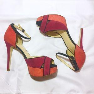 Ivanka Trump | Pink & Orange Stilettos